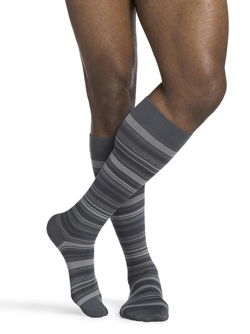 Men's Microfiber Shades Calf Mini Stripe Graphite 11.5 - 14